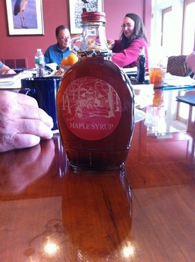 Fresh Maple Syrup for a morning meeting in the Finger Lakes