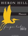 Heron Hill Classic Muscat label Finger Lakes