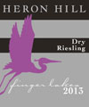 Heron Hill Dry Riesling label