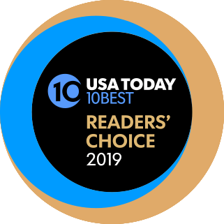 Best Wine Region by USA Today award logo