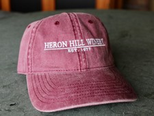 Maroon Washed Heron Hill Hat